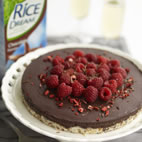 Chocolate mousse tart with fresh berries
