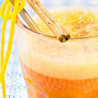 Orange, cinnamon and vanilla juice
