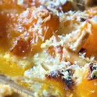 Roasted squash and caramelized onion quiche